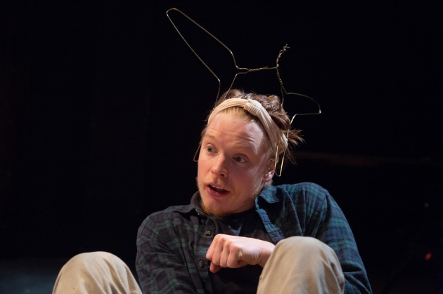 Freddie Fox in A Midsummer Night's Dream at Southwark Playhouse until 1st July CREDIT Tomas Turpie